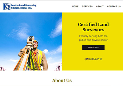 land surveying website